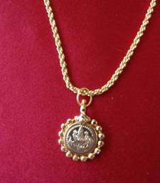 Buy Laxmi Coin Pendant with Chain Necklace online