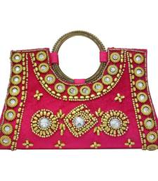 Buy Vendee Lifestyle Pretty Pink Handmade Clutch (7747C) clutch online