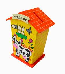 Buy Wooden Colourful Pigg Bank kid online