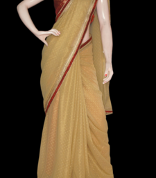 Buy Golden valentine chiffon-saree online