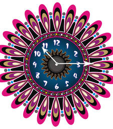 Buy Multi designer wooden wall clock new-year-gift online