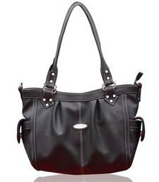 Buy FOSTELO GREY SOPHISTICATED LEATHER HANDBAG handbag online