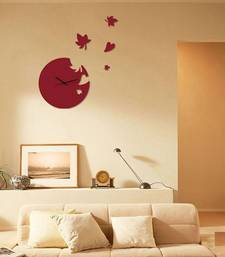 Buy Red round wall clocks new-year-gift online