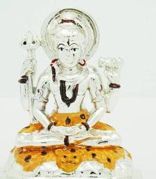 Buy Silver Plated Lord Shiva Idol housewarming-gift online