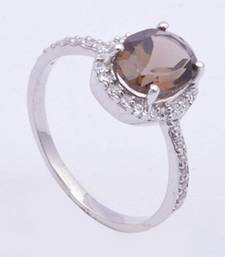 Buy Silver Quartz   rings Ring online
