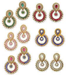 Buy Designer women Looking Earring Set Combo Of six danglers-drop online