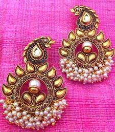 Buy Ethnic Paisley Red Green Kundan in Rows of Chandni Pearls  anniversary-gift online