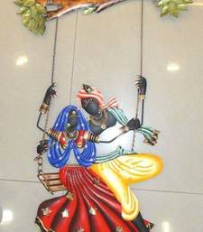 Buy Radha Krishna Under Jhula wall-decal online