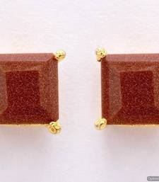 Buy ELEGANT SINGLE STONE STUDDED SQUARE TOPS/STUDS/EARRINGS (SUNSTONE) - PCE1076 Other online