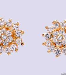 Buy FABULOUS STONE STUDDED ROUND FLOWER TOPS/STUDS/EARRINGS (AD) - PCE1102 stud online