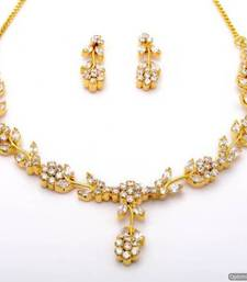 Buy LILY NECKLACE SET WITH EARRINGS (AD) - PCN1058 necklace-set online
