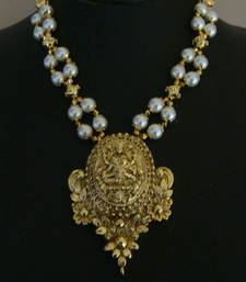 Buy Laxmi necklace-163(temple jewellery) Necklace online