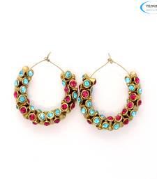 Buy Fancy fashion diamond earrings hoop online