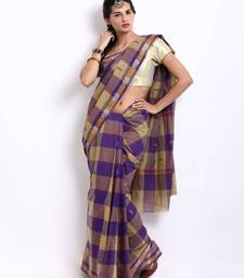 Buy Traditional Multi Colorful Checkered Cotton Saree SDF28A cotton-saree online