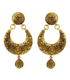 Buy Antique meenakari copper bali jhumki jhumka online