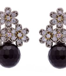 Buy ANTIQUE VICTORIAN STONES STUDDED TOPS WITH BLACK PEARLS DROP stud online