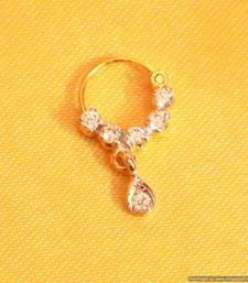 Buy Small Diamond look Nose Ring nose-ring online