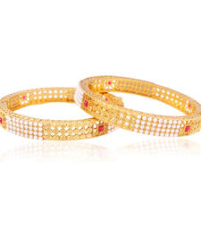 Buy Royaltouch pearl Gold plated Antique Bangles bangles-and-bracelet online