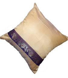 Mulberry Silk Cushions with applique patterns - Beige shop online