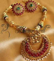 Buy GORGEOUS ROYAL KEMP RAM LEELA DESIGNER NECKLACE SET necklace-set online