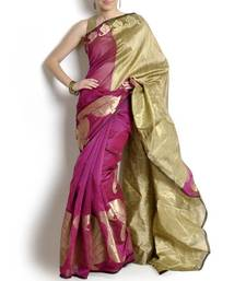 Buy Supernet Fancy Aanchal Border Saree supernet-saree online