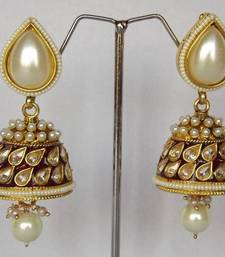 Stunning Jhumkaas in. Maroon & White shop online