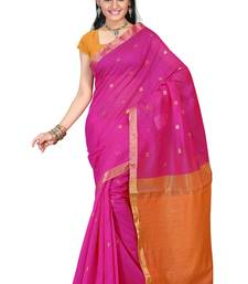 Buy pink hand woven silk saree With Blouse kota-silk-saree online