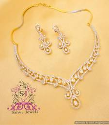 Buy Elegant American Diamond Necklace Set  Necklace online