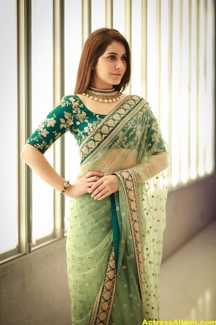 Buy Light Green Embroidered Net Saree With Blouse Online