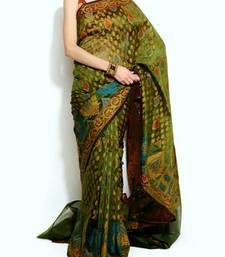 Buy Oraganza cotton fancy banarasi saree organza-saree online