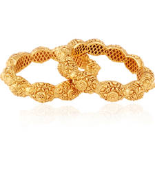 Buy Splendour gold plated american diamond bangle bangles-and-bracelet online