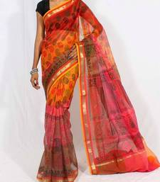 Buy Supernet fancy multi-colour printed saree supernet-saree online