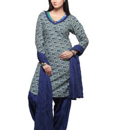 Buy Multicolors printed cotton readymade salwar with dupatta readymade-suit online