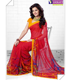 Buy Resplendent Red Saree printed-saree online