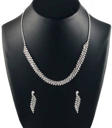 Buy creative gold-plated diamond stone necklace sets necklace-set online