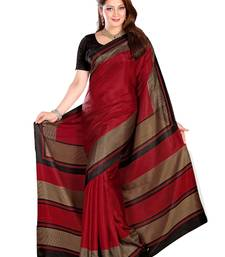 Buy red printed art silk saree With Blouse bhagalpuri-silk-saree online