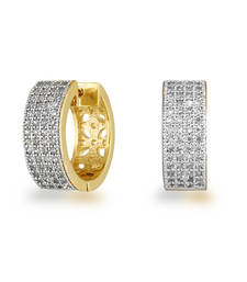 Buy CZ Studded Hoop Earrings for Women hoop online