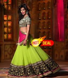 Buy Green embroiderred gorgotte lehngha choli lehenga-choli online