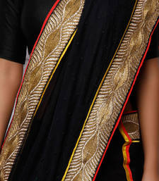 Buy Black lace and Georgette saree georgette-saree online
