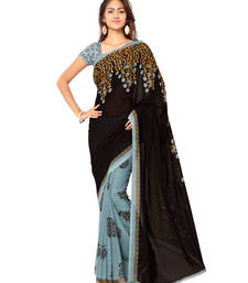 Buy Grey printed georgette saree With Blouse georgette-saree online