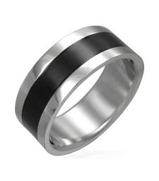 Buy Cara sterling silver and  certified Swarovski stone Black Band Ring for Men gifts-for-him online