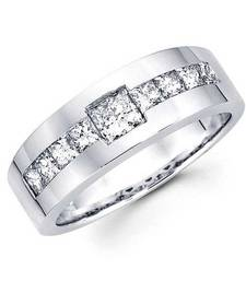 Cara sterling silver and  certified Swarovski stone Silver and Stud Ring for Men shop online