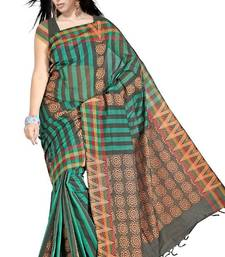 Buy Traditional Bold Stripes Chettinad Cotton Saree PS454 cotton-saree online