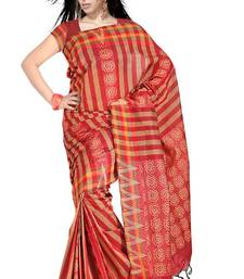 Buy Traditional Bold Stripes Chettinad Cotton Saree PS460 cotton-saree online