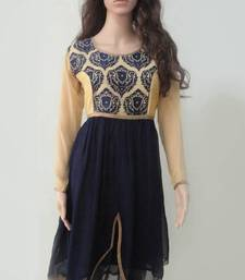 Buy Navy Blue & Cream Georgette Party Wear Kurtis other-apparel online