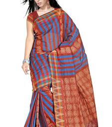 Buy Traditional Bold Stripes Chettinad Cotton Saree PS494 cotton-saree online