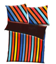 Buy Multicolor polyester striped print double bed ac quilt quilt online