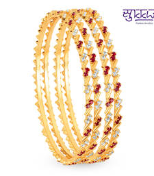 Buy Sukkhi Gold Plated Color & AD Stone bangels Diwali offers 2014 diwali-discount-offer online