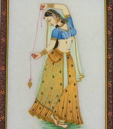 Buy eCraftIndia Dancing Ragini Marble Painting painting online