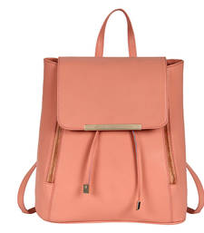 Buy Peach pu cadence backpack backpack online